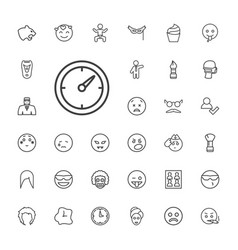 33 face icons vector