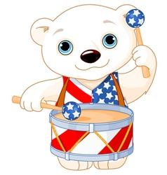 4th july polar bear vector