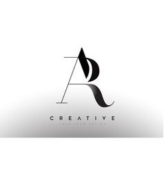 Ar ra letter design logo logotype icon concept vector