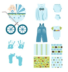 baby boy elements vector image