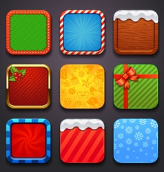 background for app icons-christmas set vector image