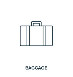 baggage icon outline thin line style from airport vector image