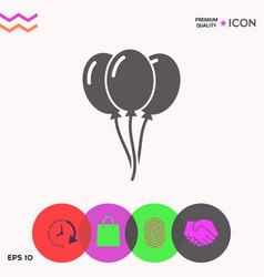 balloons symbol icon vector image