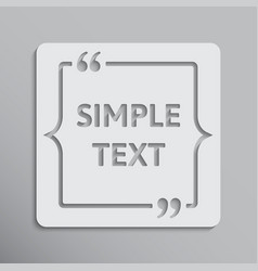 blank template quote square with bracket vector image