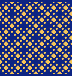 blue and yellow polka dot seamless pattern vector image