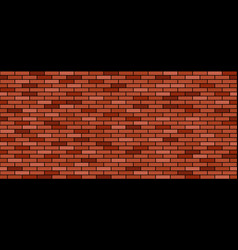 brick wall background red and brown stones vector image