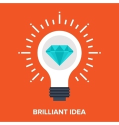brilliant idea vector image