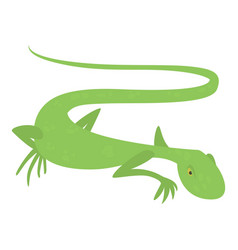 Brisk lizard icon cartoon style vector