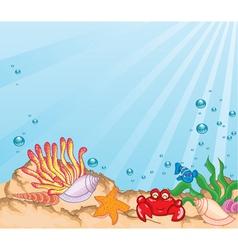 Cartoon aquarium vector