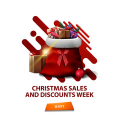 christmas sales and discount week vertical white vector image