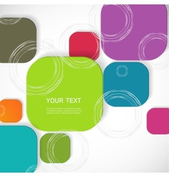 Color square connection eps vector
