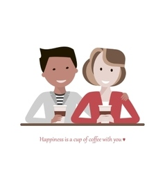 Couple Drinking Coffee vector image vector image