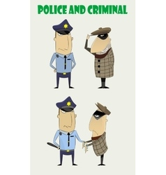 criminals caught by the police vector image