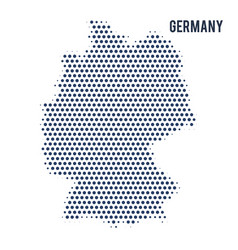 dotted map of germany isolated on white background vector image