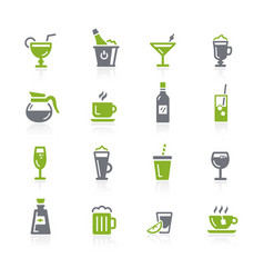 drinks icons natura series vector image
