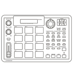 drum machine vector image