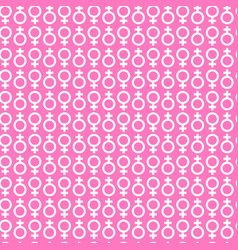 Female signs background trendy seamless pattern vector