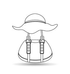 feminine fashion design vector image