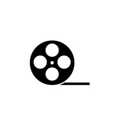film roll icon or video camera tape reel flat vector image
