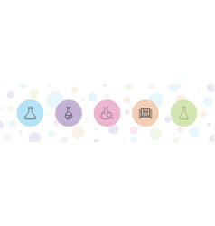 Flask icons vector