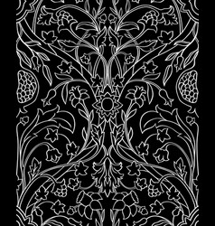 Floral black and white pattern vector