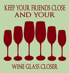 Friends and wine vector