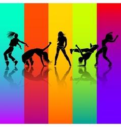 Girl dance vector