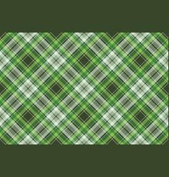 Green irish check fabric plaid seamless fabric vector