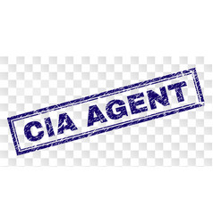 Grunge cia agent rectangle stamp vector