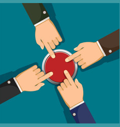 hands push the button vector image