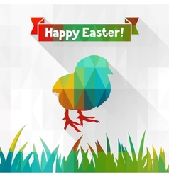 Happy Easter greeting card background vector image