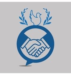 Help design hand icon flat vector
