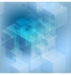 Hi-tech abstract geometric blue background vector image