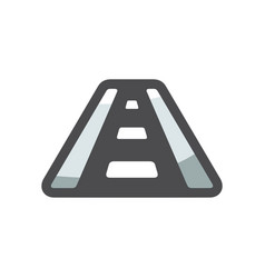 highway road asphalt icon cartoon vector image