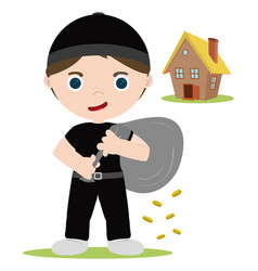 House thief vector