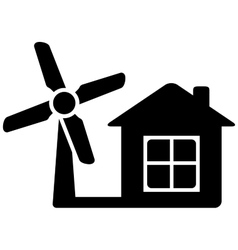 Icon with home and wind mill vector