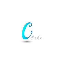 initial letter c graphic design vector image