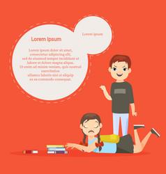 Kids bullying template vector