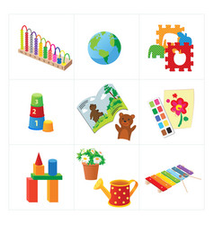 kindergarten educational toys vector image