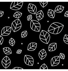 Leaf pattern monochrome simple minimalistic vector image