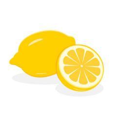 lemon fruit icon isolated fruits and vegetables vector image