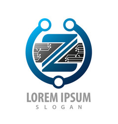 logo concept design abstract digital technology vector image