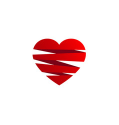 Love spiral logo vector