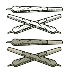 marijuana rolled joints objects or elements vector image