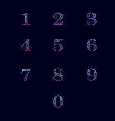 numbers with ornament vector image