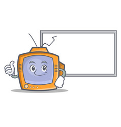 Okay with board tv character cartoon object vector