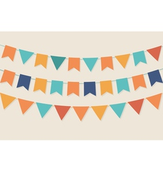 Party flags in pastel palette vector
