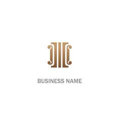 pillar building vintage logo vector image