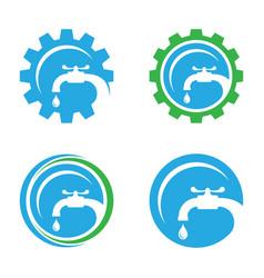 plumbing service logo concept design vector image