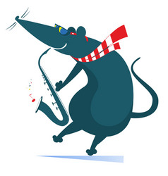 Rat or mouse a saxophonist isolated vector
